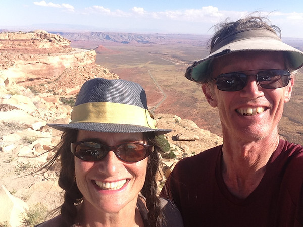 At the top of the Moki Dugway. Joy!